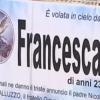 Salerno, palloncini ed un velo bianco per l'ultimo saluto a Francesca Bilotti a Giffoni