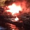 Incendio nel porto di Salerno, in fiamme tre imbarcazioni da diporto