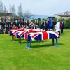 Funerali di Stato per due soldati inglesi caduti nel 1943 sulle colline di Salerno