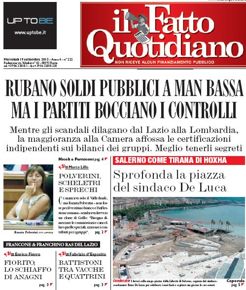 Il Fatto Quotidiano Salerno Come La Tirana Di Hoxha De Luca