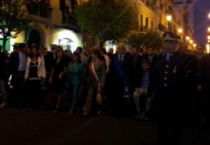 Le autorità presenti alla processione di San Matteo