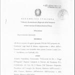 La prima pagina del provvedimento del Tar di Salerno su Medicina