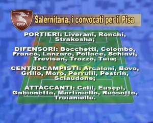 Salernitana convocati Pisa