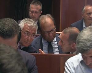 Prete, Gallozzi e Maccauro prima della votazione