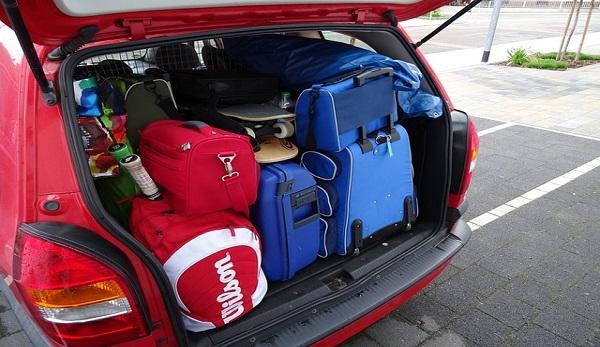 Auto con bagagli