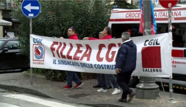 sciopero edilizia Salerno